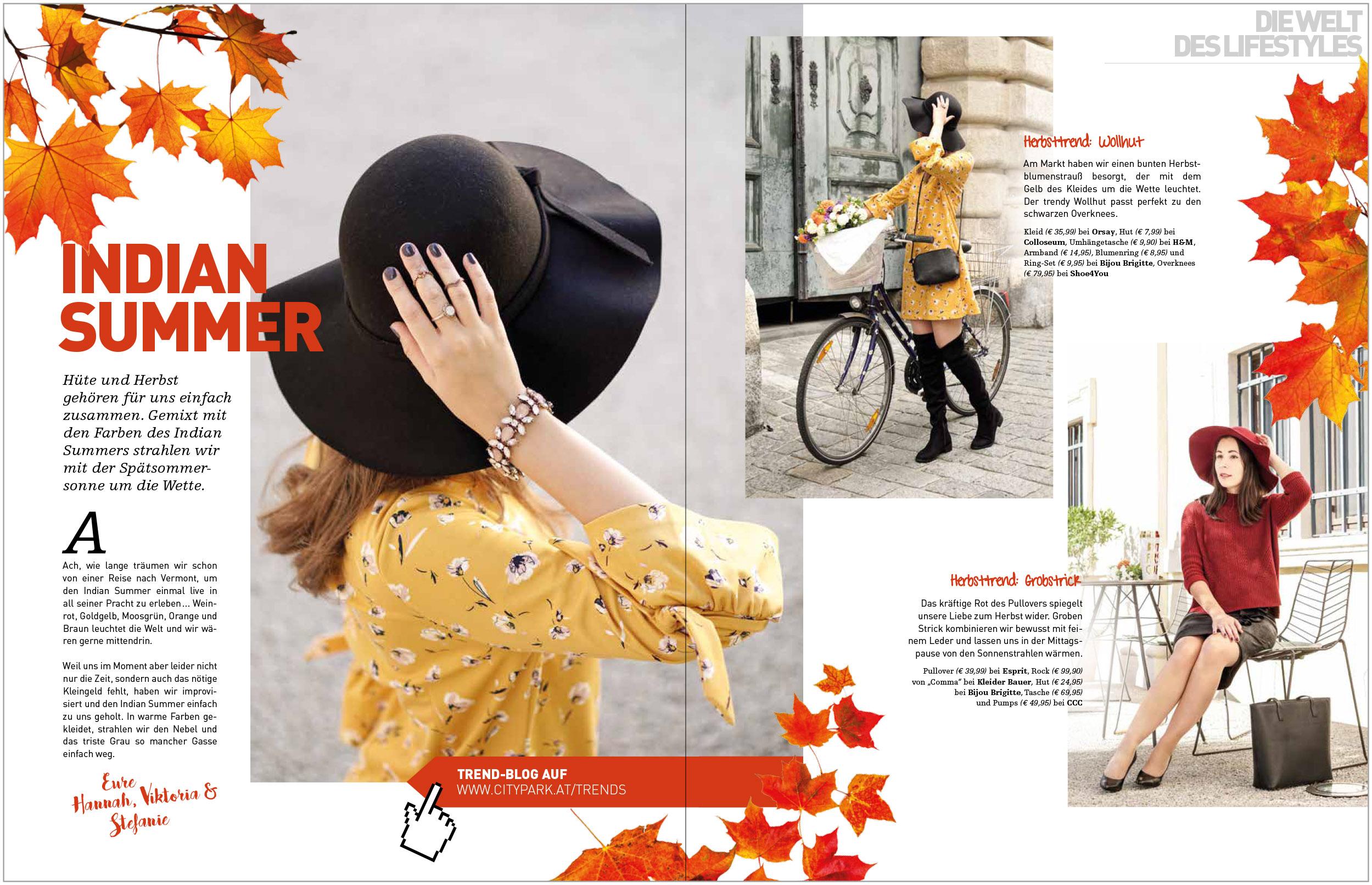 Content Zusammenarbeit Blogger Doppelseite Magazin Citytrends Citypark 3/2017