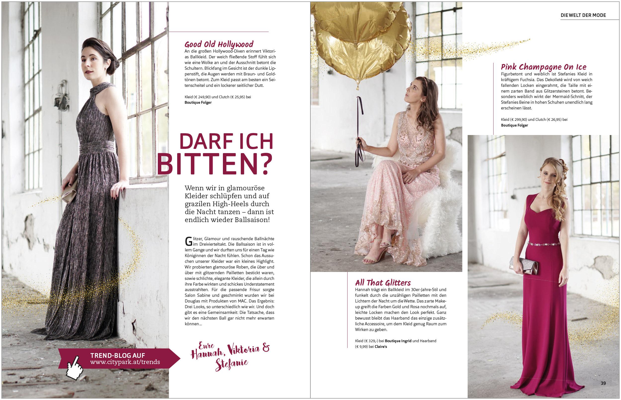 Content Zusammenarbeit Blogger Doppelseite Magazin Citytrends Citypark 4/2017